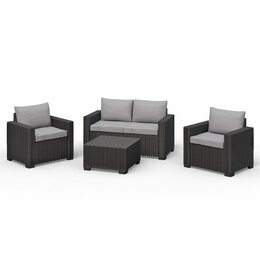 Allibert Lounge-Set California graphit (1x 2er Sofa,1x...