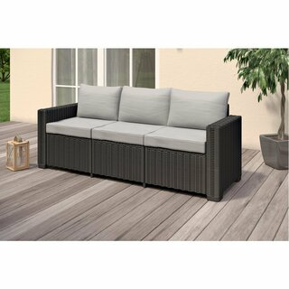 Allibert Lounge-Set CALIFORNIA graphit (1x 3er Sofa, 2x Sessel, 2x Tisch)