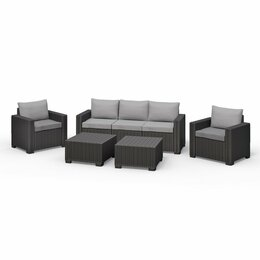 Allibert Lounge-Set CALIFORNIA graphit (1x 3er Sofa, 2x...